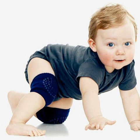 Baby Safety Crawling Knee Pads - Indigo-Temple