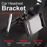 Hands-Free Car Backseat Phone/Tablet Mount - Indigo-Temple