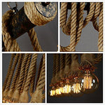 Decorative Retro Vintage Hemp Rope Lamp - Indigo-Temple