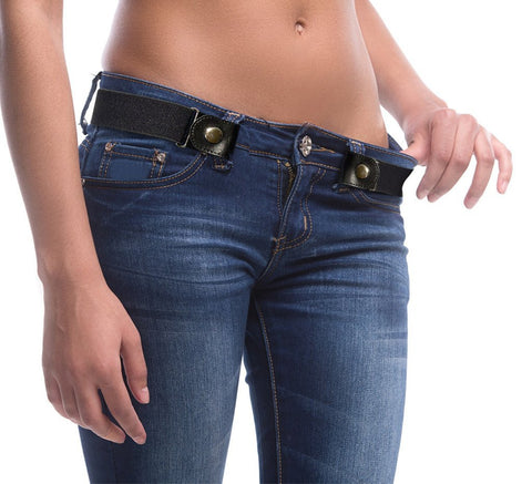 Buckle-Free Adjustable Belts - Indigo-Temple
