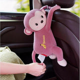 Creative Hanging Monkey Tissue Holder for Home and Car - Indigo-Temple