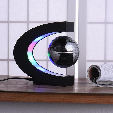 Zero Gravity Levitating Globe LED Lamp - Indigo-Temple