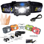 Sensor-Operated Rechargeable LED Headlamp - Indigo-Temple