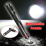 Multifunction XPE LED Flashlight Torch With Protection Function - Indigo-Temple