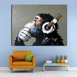 """The Thinking Monkey"" Modern Canvas Print - Indigo-Temple"