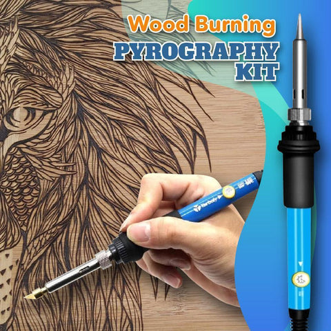 28 pcs Wood Burning Pyrography Kit - Indigo-Temple