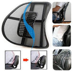 2 in 1 Car Seat And Office Chair Mesh Lumbar Back Support - Indigo-Temple