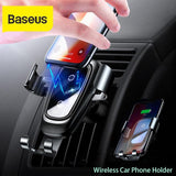 Baseus™ Gravity Auto-lock Car Mount With 10W Wireless QI Charger