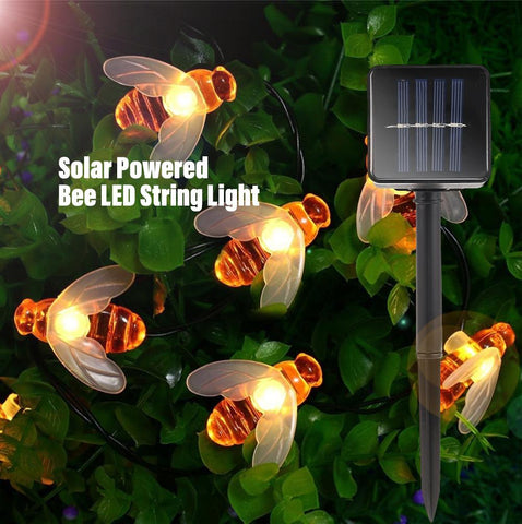 SolarGarden™ Solar Powered Honey Bee Led String Lights