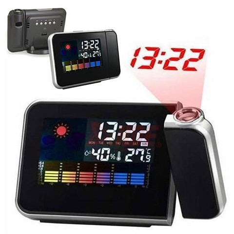 PROJECTION  ALARM CLOCK + WEATHER  DISPLAY - Indigo-Temple