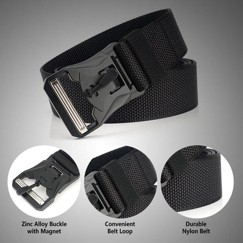 MagnetoBelt™ Tactical Belt With A Magnetic Buckle - Indigo-Temple