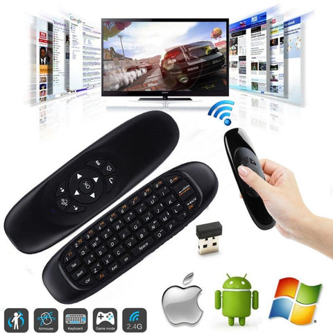Keymote™ C120 BT Air-Mouse / Smart-Keyboard / Remote-Control - Indigo-Temple