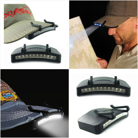 Clip-On Cap Super Bright 11 Led's Light - Indigo-Temple