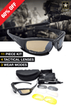 X7 Ballistic Army Polarized  Sunglasses - Indigo-Temple