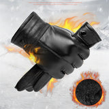 Genuine Leather Elegant Touch Screen Gloves