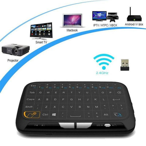 2-in-1 Wireless Multimedia Touchpad & Keyboard - Indigo-Temple