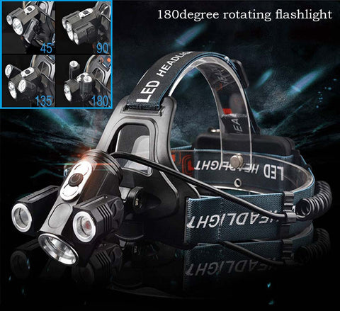 Cyclop-Vision™ 180 degree Rotating Headlamp - Indigo-Temple