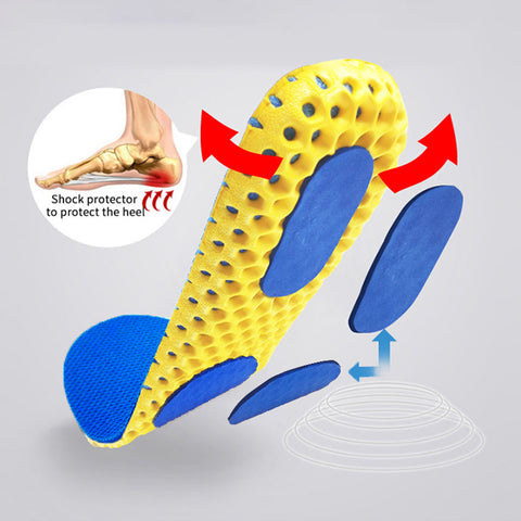 Memory Foam Breathable Orthopedic Honeycomb Insoles