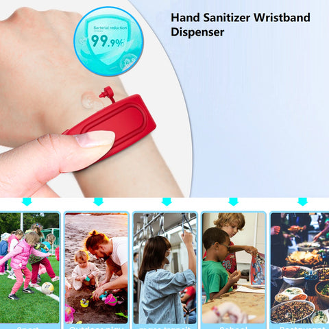 SafeHands™ Hand Sanitizer Wristband Dispenser *** 2pcs***