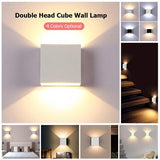 ModernCube™ Double Headed Adjustable Rail Projector Wall LED Light 12W