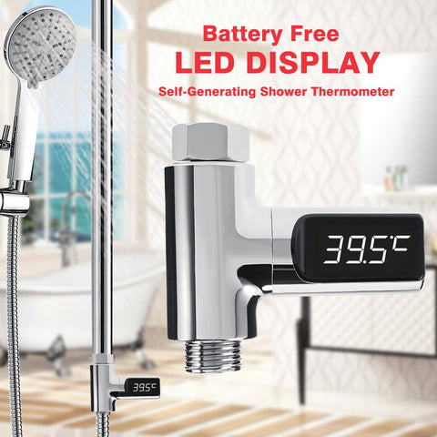 Digital LED-Display Shower Thermometer - Indigo-Temple