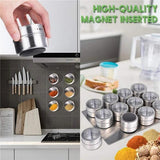 MagneticSpice™ Stainless Steel Spice Jar Set With Magnetic Base