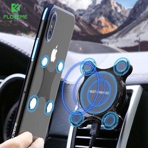 2-IN-1 Qi-Wireless Magnetic Phone Charger - Indigo-Temple