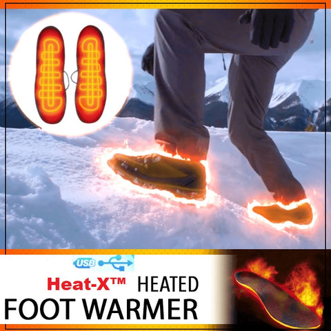 Heat-X™ USB Heated Foot Warmer Insoles