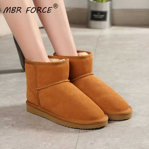 MBR™ Genuine Leather Snow Boots For Women