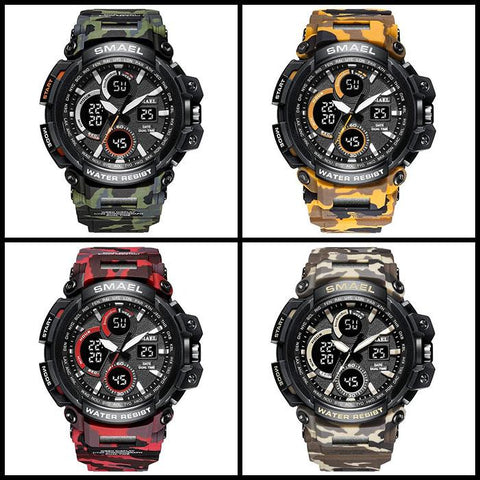 ZR - 670 SMAEL™ Lagoon Edition Waterproof & Shockproof Tactical Watches - Indigo-Temple