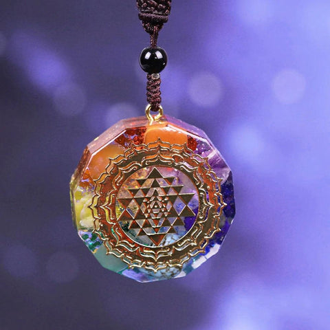 Orgonite Pendant With Sacred Geometry