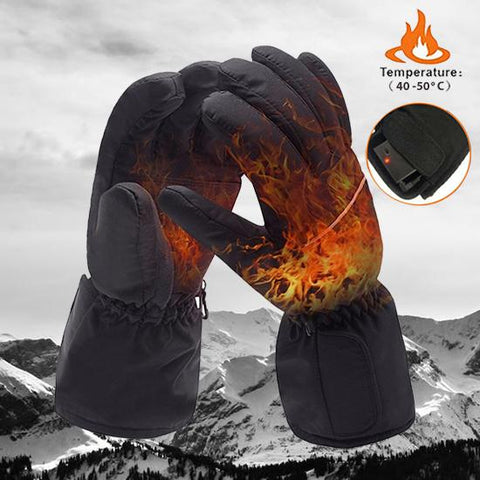 Cold Resistant Electric Heated Gloves - Indigo-Temple
