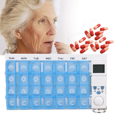 7days Pill Organizer + Reminder Alarm - Indigo-Temple