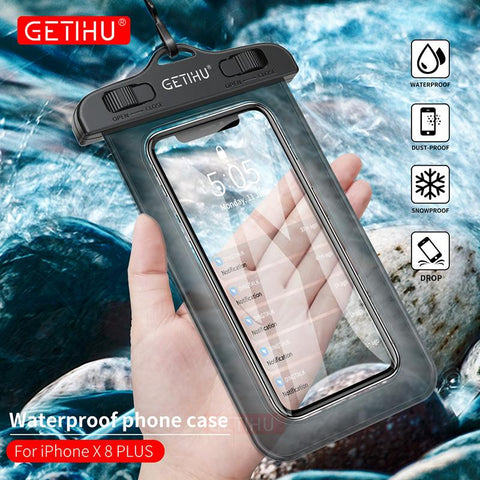 GETIHU™ Universal Waterproof Case for iPhone and Galaxy - Indigo-Temple