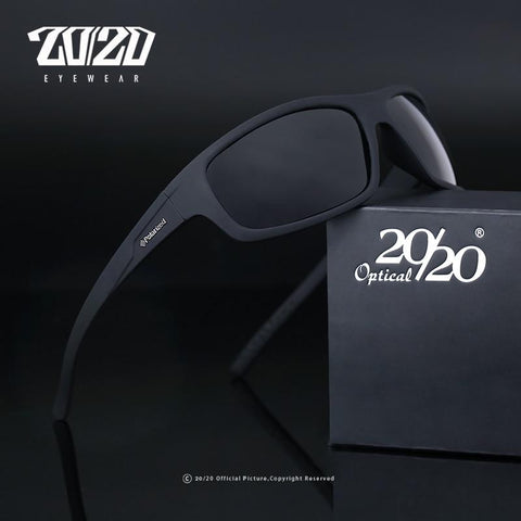 20/20™ Polarized Anti-Glare Sporty Sunglasses - Indigo-Temple