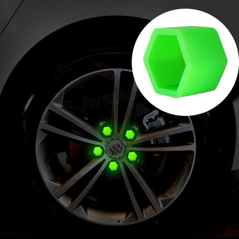 Styling 20pcs Green Wheel Nuts Covers - Indigo-Temple