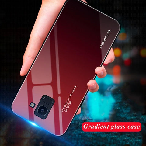 Tempered Glass Gradient Color Case for Galaxy - Indigo-Temple