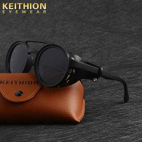 KEITHION Unisex Steampunk Goggles With Side Shields