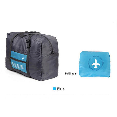 Large Capacity Folding Envelope Travel Bag - Indigo-Temple