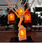 LED Christmas Decoration Lanterns (2 pcs set) - Indigo-Temple