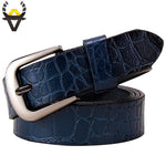 BHK™ Genuine Leather Crocodile Belt  for Women