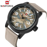 Military Fabric Strap Wristwatch ( 4 colors ) - Indigo-Temple