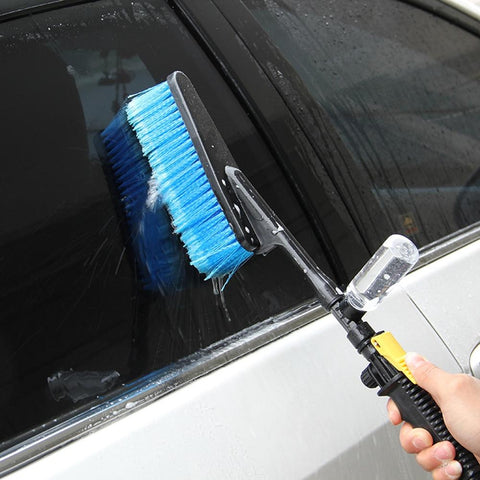 Waterflow™ Car Brush Hose Adaptor With Soap Bottle Attachment