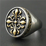 Malta -  Vintage Cross Flower Ring - Indigo-Temple