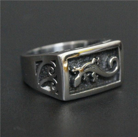 Gekko-Stainless Steel  Ring - Indigo-Temple