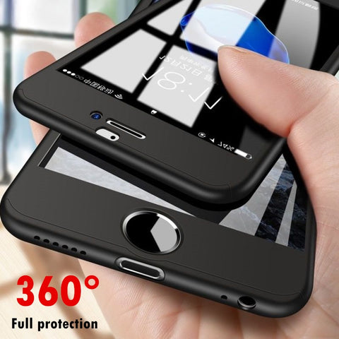360 Degrees Full Protection iPhone Case With Protective Glass