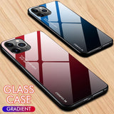 Gradient Tempered Glass Smartphone Case for iPhone & Samsung