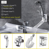 External Attachable Sink Shower Head Set