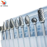 Premium Tungsten Steel Carbide Rotary Burr Set (10pc)