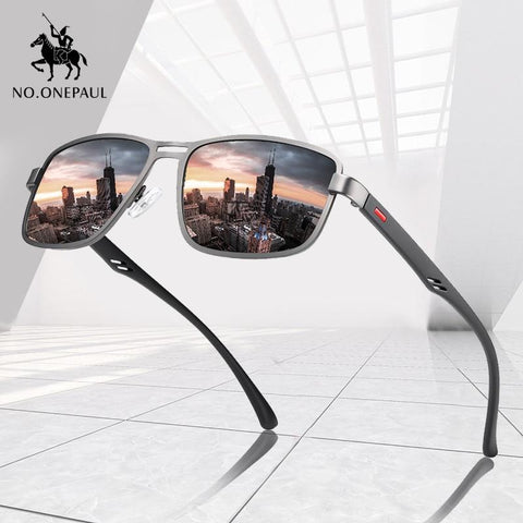 NO.ONEPAUL™ Metal Squared Frame Polarized Sunglasses for Men